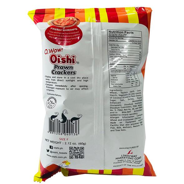 Oishi Prawn Crackers Original Flavor 2.12oz