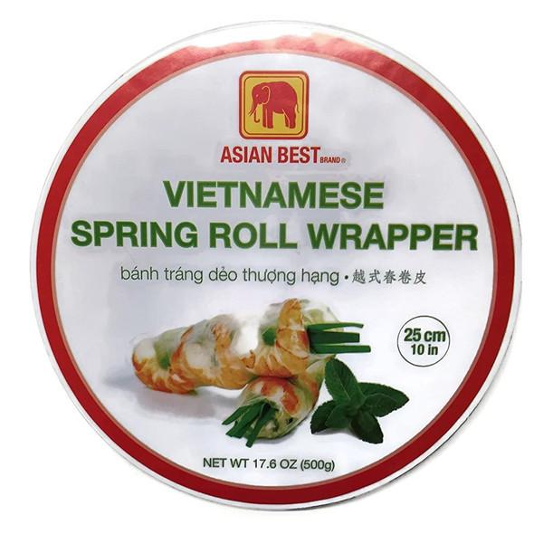 Asian Best Vietnamese Spring Roll Rice Paper Wrapper 25cm