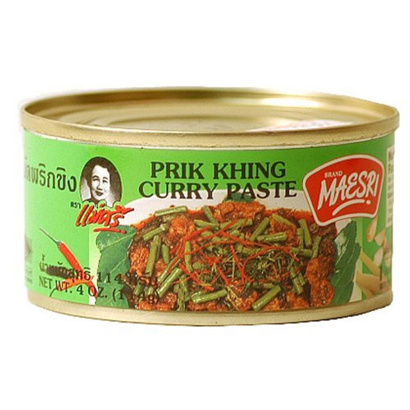 Pad Prik Khing Curry Paste 4 oz Tinned Can