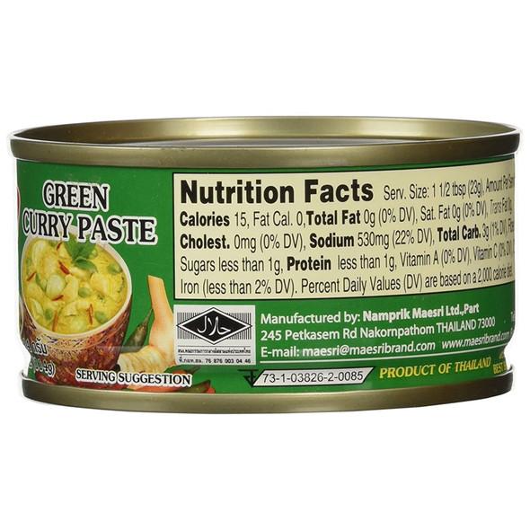 Maesri Green Curry Paste, 4 oz