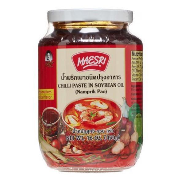 Namprik Pao - Maesri Chili Paste Soybean Oil