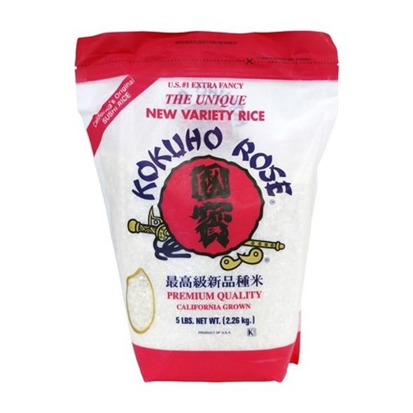 Kokuho Rose Sushi Rice 5lb Bag, Pink Bag
