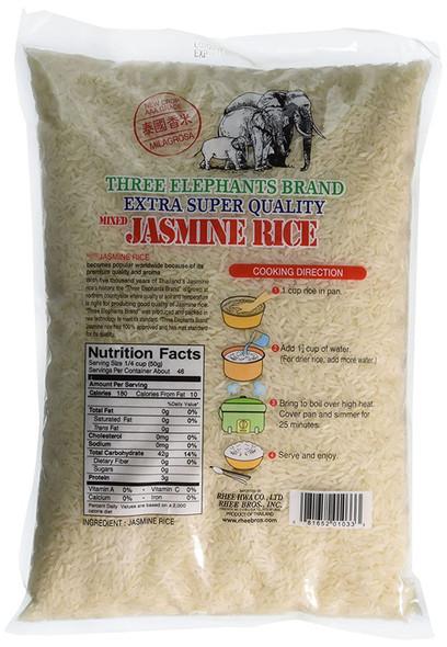 Three Elephants Thai Jasmine Rice, 5lb