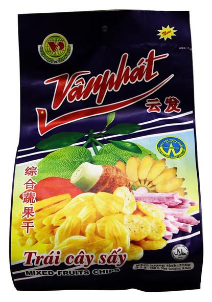 Van Phat Dried Mixed Fruits Chip -Trai Cay Say, 8.8oz Bag