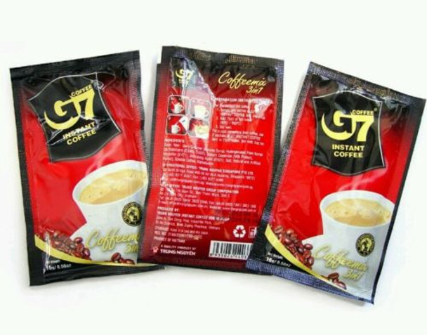 Trung Nguyen G7 3-in-1 Instant Vietnamese Coffee Mix, 50 Sachets