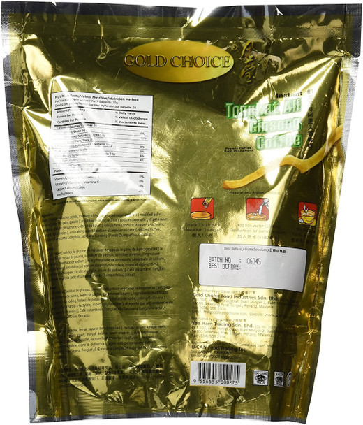 Gold Choice Instant Tongkat Ali Ginseng Coffee, 20 Sachets