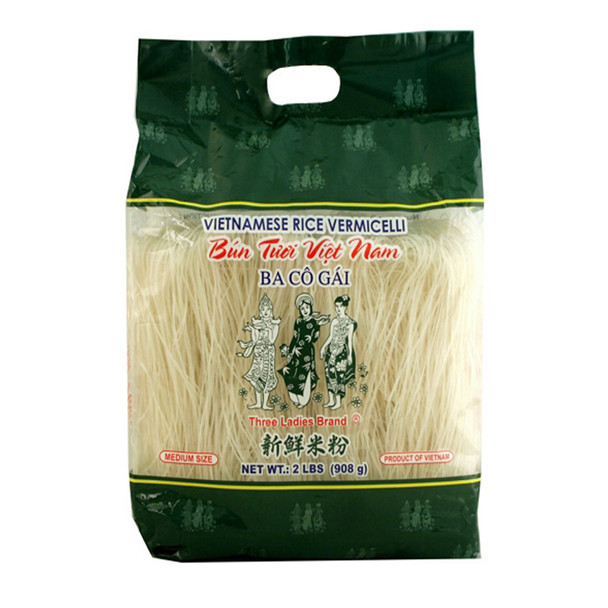 Three Ladies Brand (Ba Co Gai) Vietnamese Rice Stick Vermicelli, 2lb