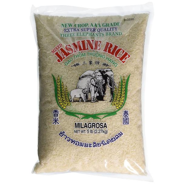 Three Elephants Brand Thailand Jasmine Rice