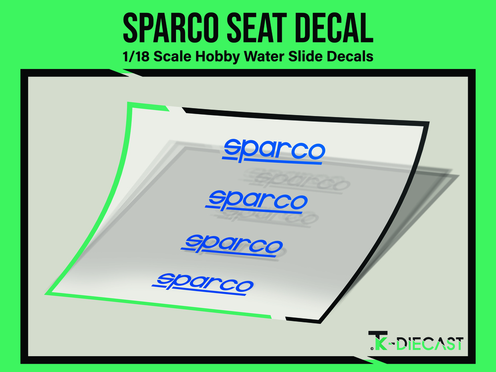 Sparco Seat Decal
