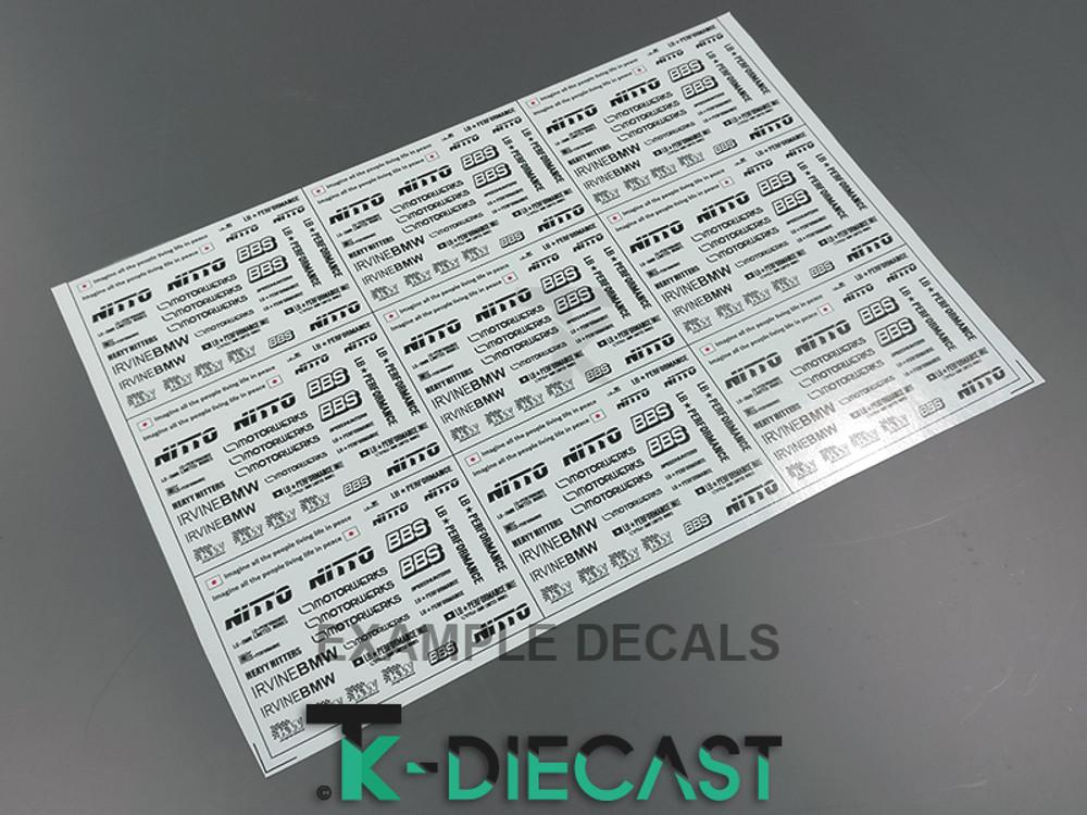 Decal Sheet A4 Thin-Ink Print