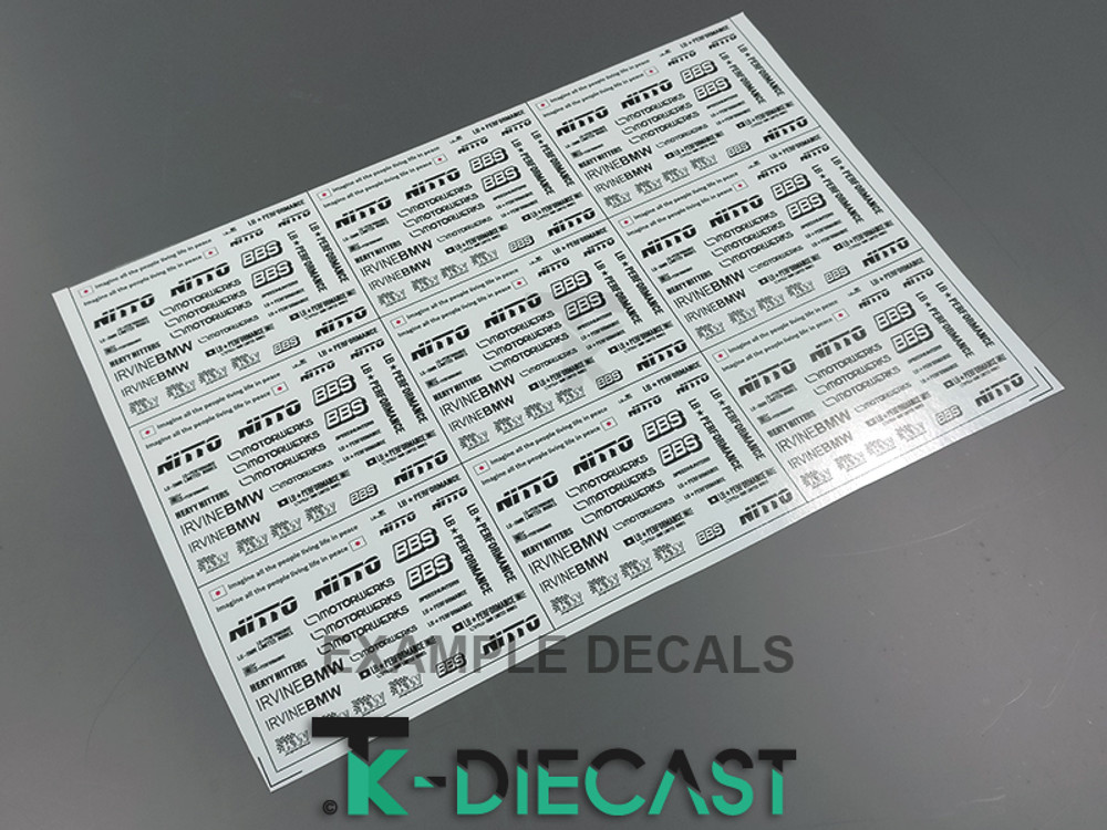 Decal Sheet A5 Thick-Ink Print