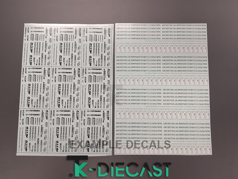 Decal Sheet A4 Thick-Ink Print