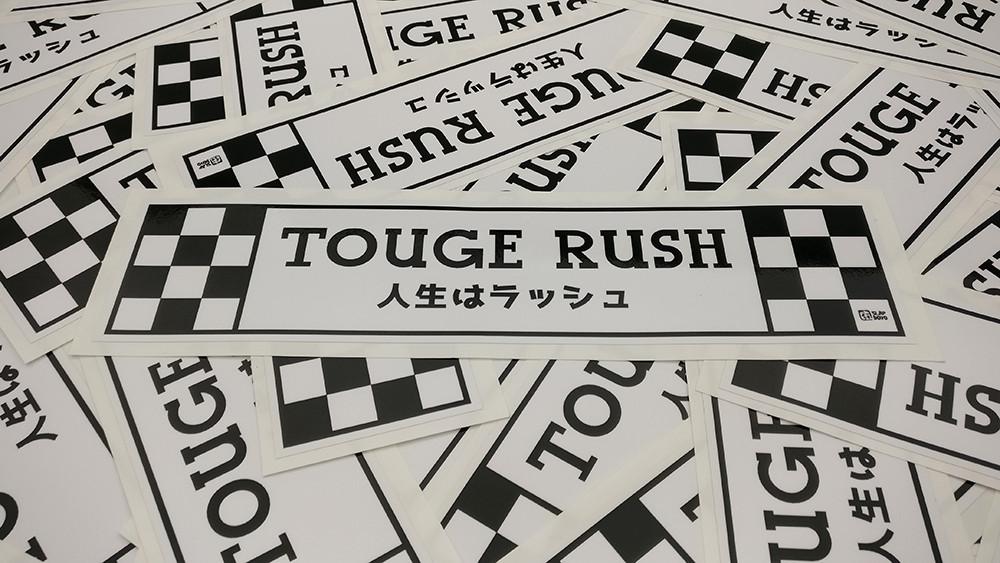 Touge Rush Vinyl Slap Sticker