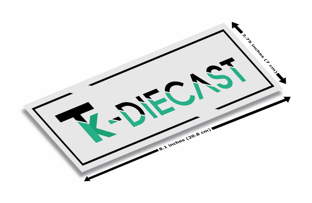 TK Diecast White Vinyl Slap Sticker