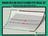 Nissan Skyline R34 GT-R Door Step Decal Set