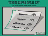 Toyota Supra Decal Set