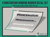 Stancenation Window Banner Decal Set