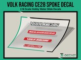 Volk Racing CE28 Wheel Spoke Decal