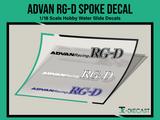 Advan RG-D Spoke Decal Set