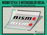 Nismo Style 3 Intercooler Decal