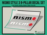Nismo Style 3 B-Pillar Decal Set
