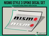 Nismo Style 3 Spoke Decal Set