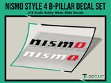 Nismo Style 4 B-Pillar Decal Set