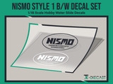 Nismo Style 1 Black & White Decal Set