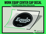 Work Equip Center Cap Decal