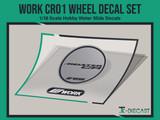 Work CR01 Wheel Decal Set