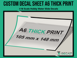 A6 Custom Decal Sheet Thick-Ink Print