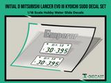 Initial D Mitsubishi Lancer EVO III Kyoichi Sudo Decal Set