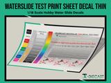 Water Slide Test Print Sheet Decal