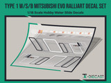 Mitsubishi Lancer Evo IX Evolution RalliArt Decal Set