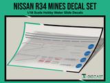 Nissan R34 Mines Decal Set