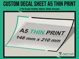 A5 Custom Decal Sheet Thin-Ink Print