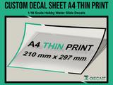 A4 Custom Decal Sheet Thin-Ink Print