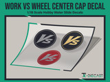 Work VS Wheel Center Cap Decal