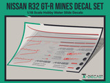 Nissan R32 GT-R Mines Decal Set