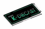 TK Diecast Black Vinyl Slap Sticker