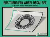 BBS Turbo Fan Wheel Decal Set