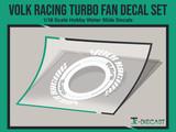 Volk Racing Turbo Fan Decal Set