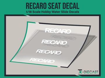 Recaro Seat Decal