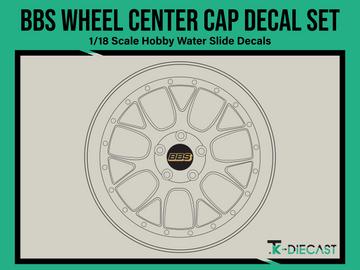 BBS Wheel Center Cap Decal Set