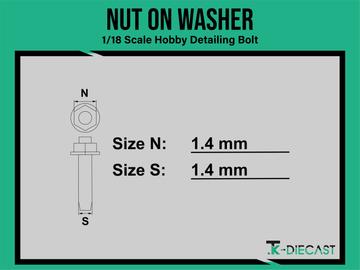 Detailing Bolt - Ø1,40mm nut on washer