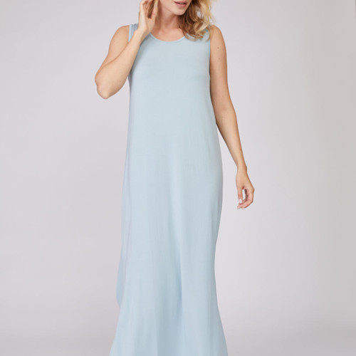 Bamboo Sleeveless Drape Gown By Pure Fiber
