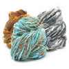 Cin Cin is a nubby textured yarn from Trendsetter Yarns. It works great alone or can play nicely with others.