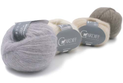 Cardiff Cashmere  Yarns Brushmere Light