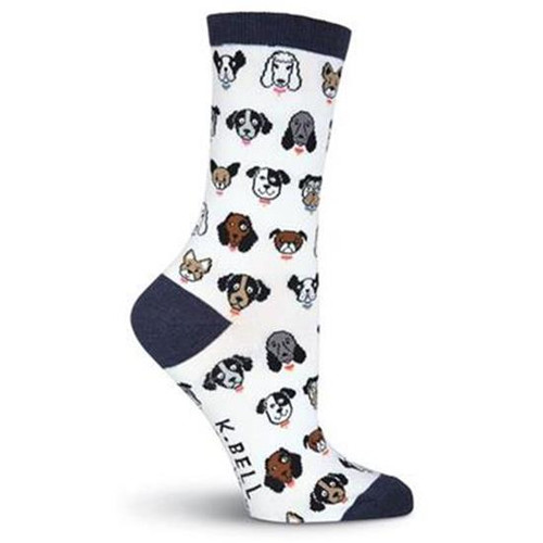 K.Bell Women's Dog Profile Crew Socks