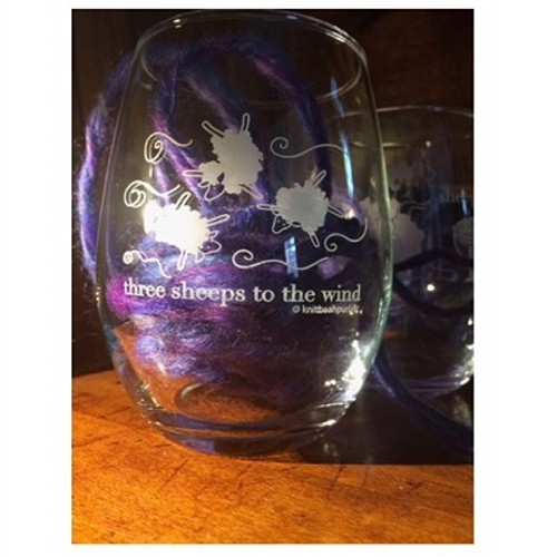 Three Sheeps to the Wind Wine Glass(Stemless)
